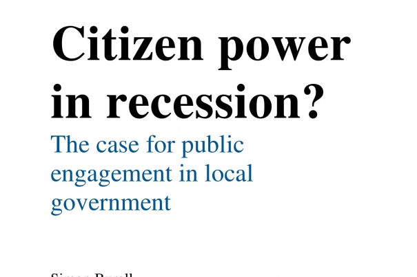 Citizen Power in Recession? The case for public engagement in local government