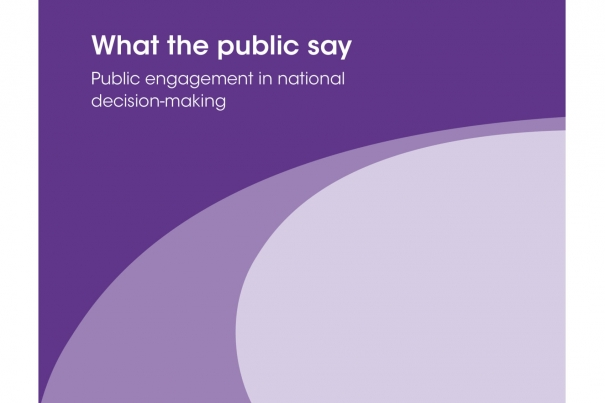 What the public say: public engagement in national decision-making