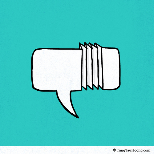 Folded speech bubble