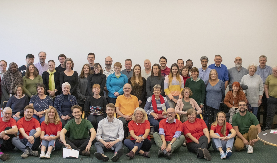 group photo of greater cambridge citizens assembly