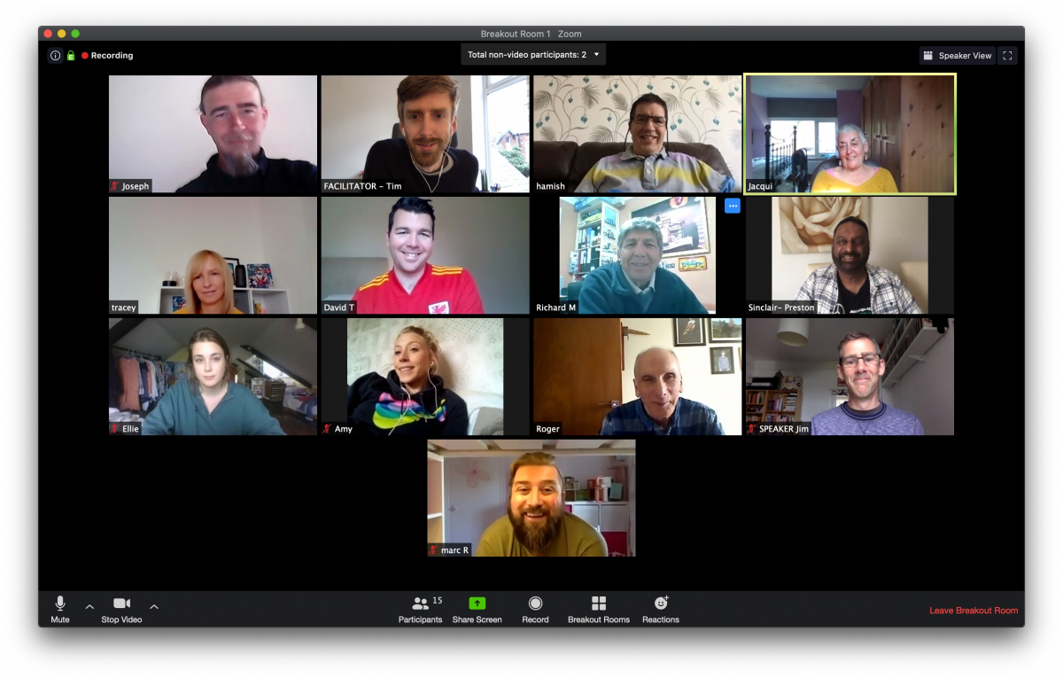 Climate Assembly UK members on Zoom